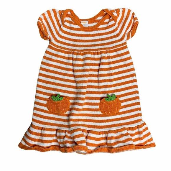 Gymboree Knit Babydoll Toddler Dress 4T Orange